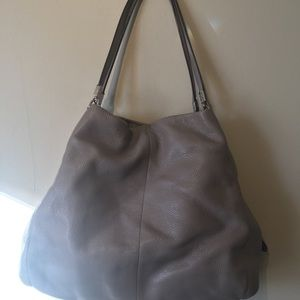 Genuine coach gray leather medium bag.